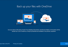 Backup to OneDrive